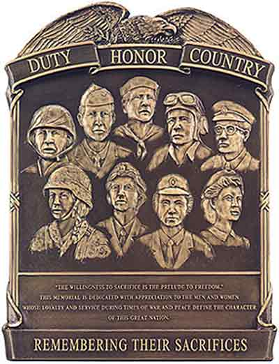 image casting bronze military plaque 3d armed services plaques Duty Honor Country bas-relief bronze seals